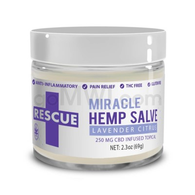 CBD Rescue Miracle Hemp Salve 250mg - Lavender Citrus