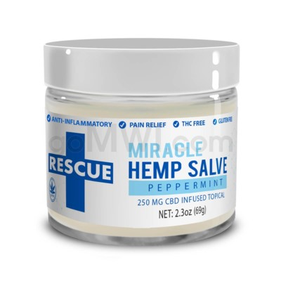 CBD Rescue Miracle Hemp Salve 250mg - Peppermint