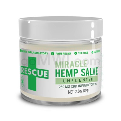 CBD Rescue Miracle Hemp Salve 250mg - Unscented