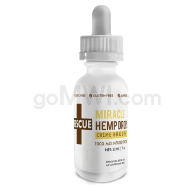 CBD Rescue Miracle Hemp Drops 30ml 1000mg- Creme Brulee
