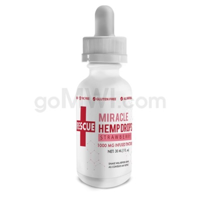CBD Rescue Miracle Hemp Drops 30ml 1000mg - Strawberry