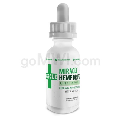 CBD Rescue Miracle Hemp Drops 30ml 1000mg - Unflavored