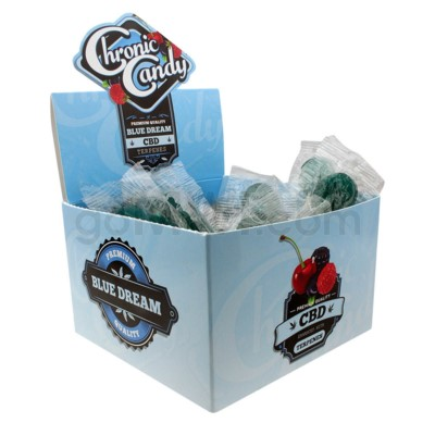 Chronic Candy CBD 10mg Lollipop-Blue Dream 60ct