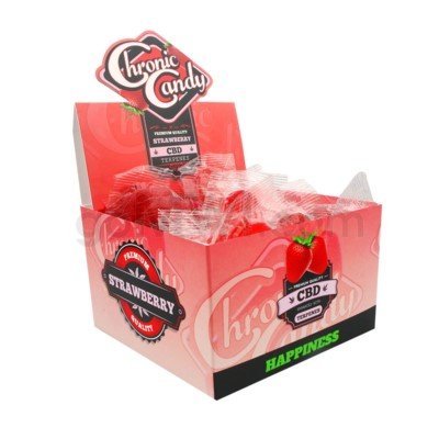 Chronic Candy CBD 10mg Lollipop-Strawberry 60ct