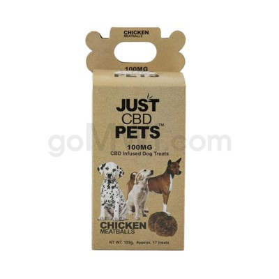 JUST CBD 100mg Dog Treat Jars Pet Chicken Balls