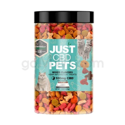 JUST CBD 100mg Pet Treat Jars Cats Purr Treats