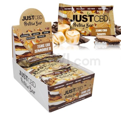 Just CBD 25MG Protein Bar - Smores 12CT/BX