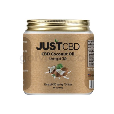 JUST CBD 4oz 360mg Coconut Oil