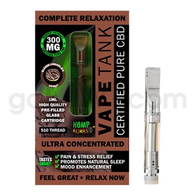Hemp Bombs CBD Pre-Filled Tank 1ml / 300mg Glazed Chocolate