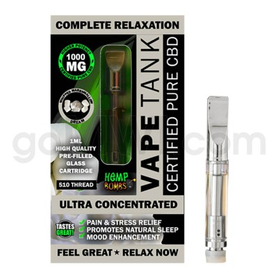 Hemp Bombs CBD Pre-Filled Tank 1ml /1000mg Whipped Marshmallo
