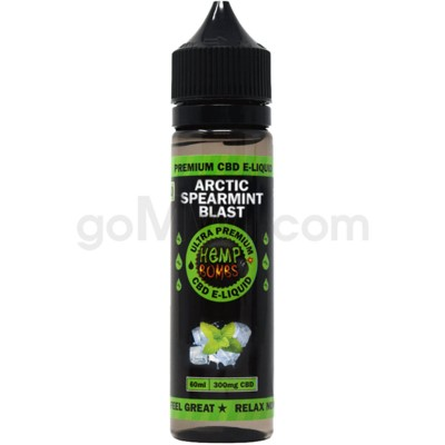 Hemp Bombs CBD E-Liquid 60ml /300mg Artic Spearmint Blast