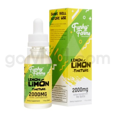 Funky Farms CBD 30ml 2000mg MCT Tincture Lemon Limon