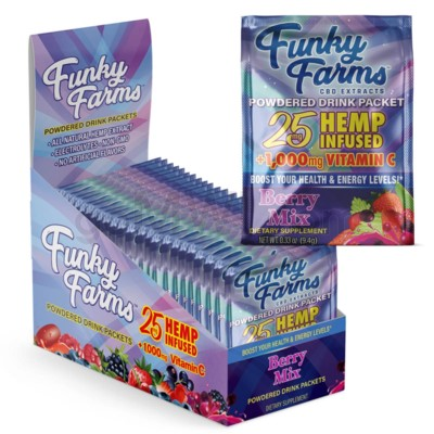 Funky Farms CBD 25mg Drink Packet Berry 24ct