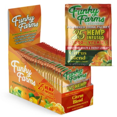 Funky Farms CBD 25mg Drink Packet Citrus 24ct