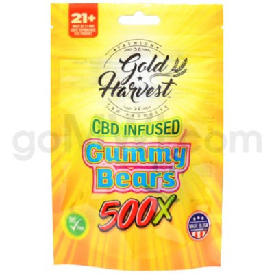 Gold Harvest CBD Infused 500mg Gummy Bears