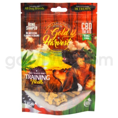 Gold Harvest CBD Dog Treats 100mg Sweet Potato & Honey