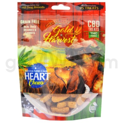 Gold Harvest CBD Dog Treats 100mg Duck, Oranges, & Carrots