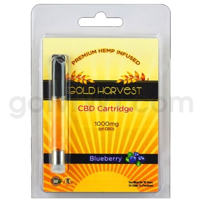 Gold Harvest CBD Cartridge 1ml 1000mg Blueberry