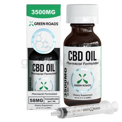 Green Roads CBD Oil Tincture 60ml 3500mg 6PC/BX