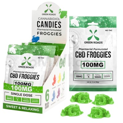 Green Roads CBD Edible 100mg 4ct Froggie 10PC/BX
