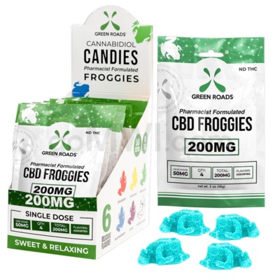 Green Roads CBD Edible 200mg 4ct Froggie 10PC/BX