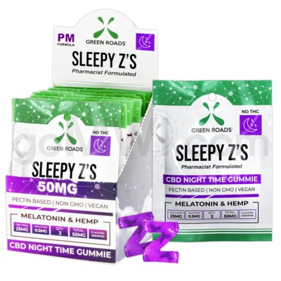 Green Roads CBD Edible 50mg 2ct Sleepy'z 10PC/BX