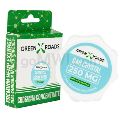 Green Roads CBD Isolate Concentrate 250mg 1/4g Dab Crystals