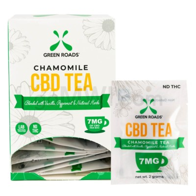 Green Roads CBD Tea w/ Chamomile 7MG 20PCS/BX