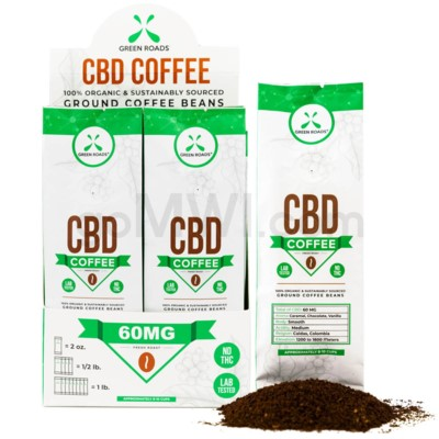 Green Roads CBD Coffee 2oz 60MG 8PCS/BX