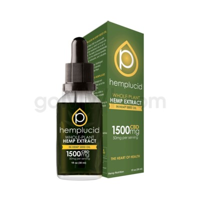Hemplucid CBD 1500mg Hemp Seed Oil Full Spectrum
