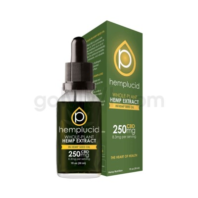 Hemplucid CBD 250mg Hemp Seed Oil Full Spectrum