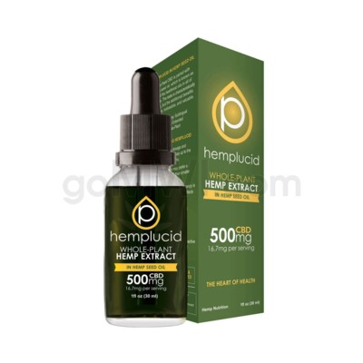 Hemplucid CBD 500mg Hemp Seed Oil Full Spectrum