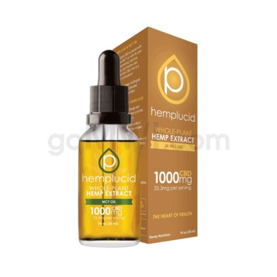 Hemplucid CBD 1000mg Hemp MCT Oil Full Spectrum