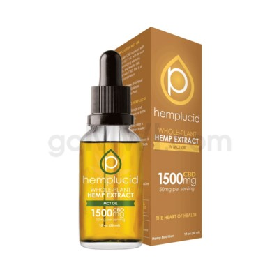 Hemplucid CBD 1500mg Hemp MCT Oil Full Spectrum