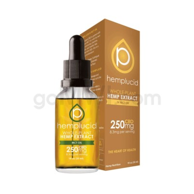 Hemplucid CBD 250mg Hemp MCT Oil Full Spectrum