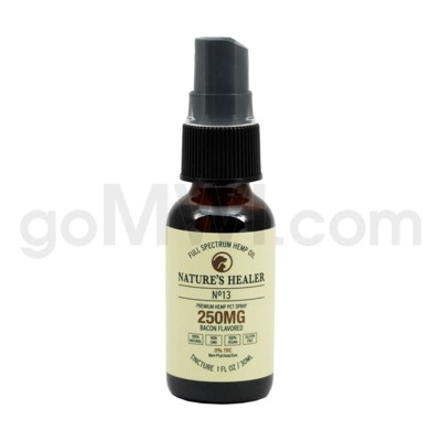 Nature's Healer CBD Pet Tincture Spray 250mg - Bacon