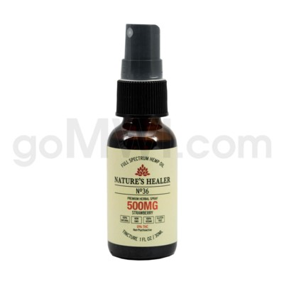 Nature's Healer CBD Tincture 30ml 500mg Spray Strawberry