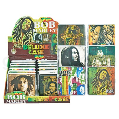 DISC Cigarette Case Bob Marley Leather 12PC/BX