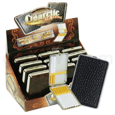 DISC Cigarette Case Leather 12PC/BX