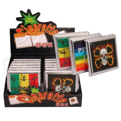 Cigarette case w/assorted PVC design 12PC/BX