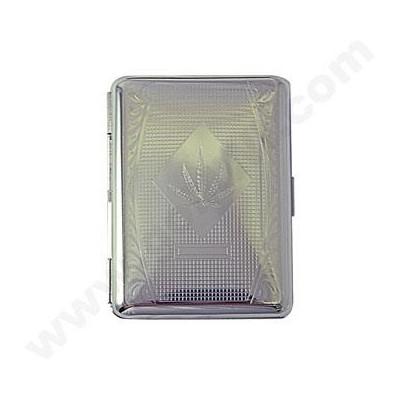 Cigarette case canabis leaf design 12PC/BX