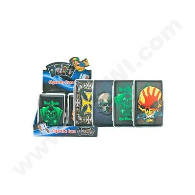 DISC Cigarette Case Skull Designs 12PC/BX