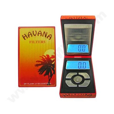 DISC AWS 500g x 0.1g +Piece Count Cigarette Box - RED  Scale