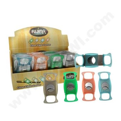 Cigar Cutter Double Blade Clear
