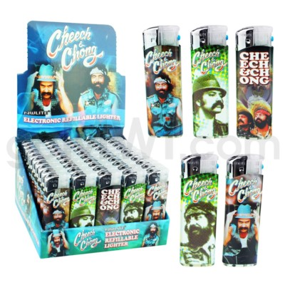 DISC Cheech and Chong Raving Elec Lighters Series A 50CT/BX