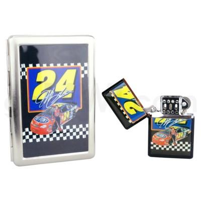 DISC Oil Lighter & 100mm Cig Case Jeff Gordon