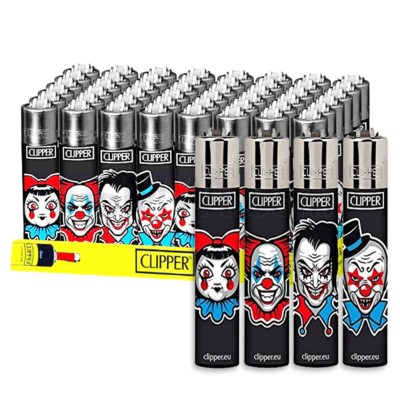 Clipper Electronic Lighters Horror Clown 48CT/BX