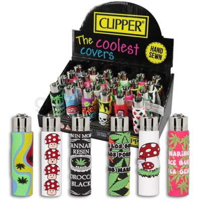 Clipper Electronic Lighter Pop Cover Edition Assorted 24CT/BX
