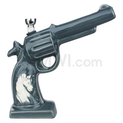 Ceramic WP Gun w/Horse Image-Grey