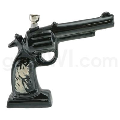 Ceramic WP Gun w/Horse Image-Black